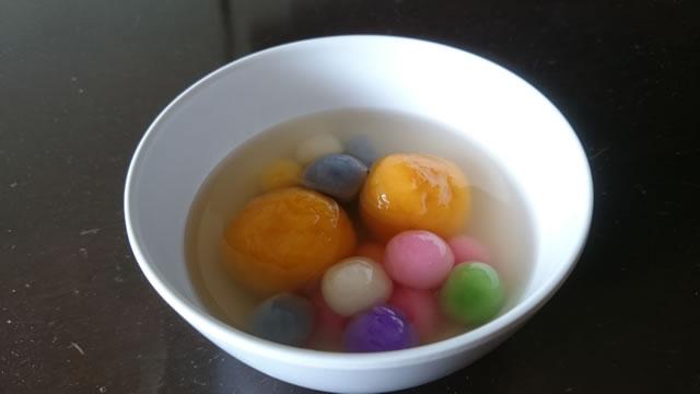 冬至に食べる湯丸